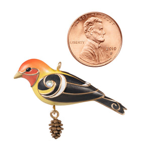 Mini Western Tanager Ornament, 1.09""