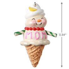 Load image into Gallery viewer, Moms Are Sweet Snow Lady Ice Cream Cone Ornament