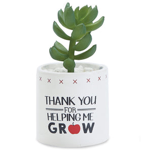 Mud Pie Thank You Faux Succulent Planter