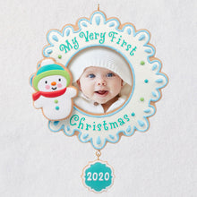 Load image into Gallery viewer, My Very First Christmas Baby 2020 Photo Frame Ornament