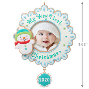 My Very First Christmas Baby 2020 Photo Frame Ornament