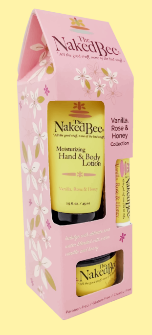 Naked Bee Vanilla Rose & Honey Gift Collection