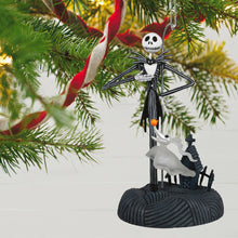 Load image into Gallery viewer, Disney Tim Burton's The Nightmare Before Christmas Collection Jack Skellington Ornament With Light and Sound