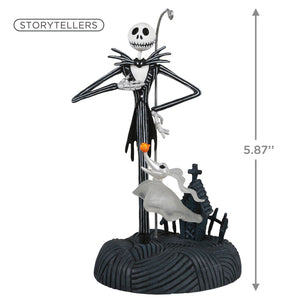 Disney Tim Burton's The Nightmare Before Christmas Collection Jack Skellington Ornament With Light and Sound