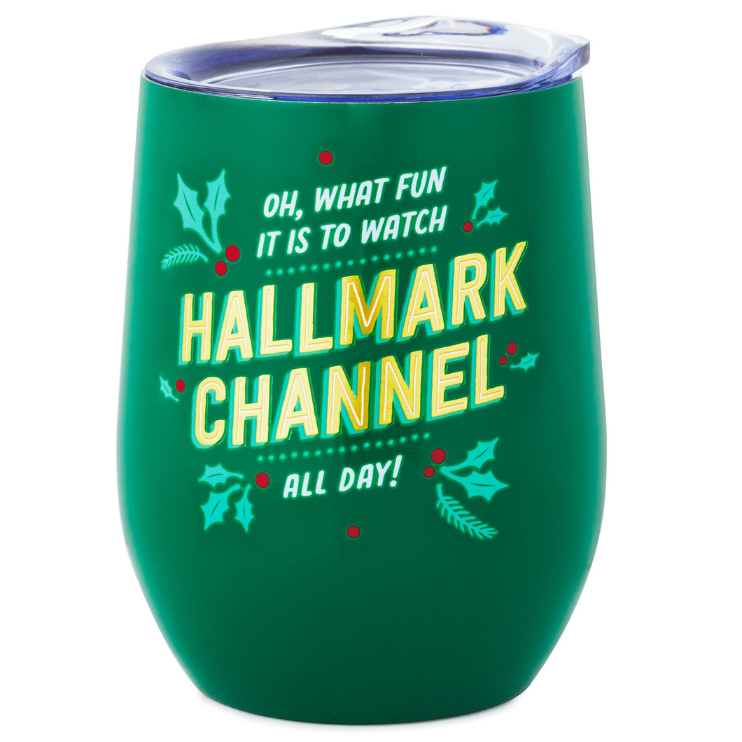 Oh What Fun Hallmark Channel Stainless Steel Wine Tumbler, 11.5 oz.