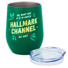 Load image into Gallery viewer, Oh What Fun Hallmark Channel Stainless Steel Wine Tumbler, 11.5 oz.
