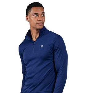 Simply Southern Men's Quarter Zip Pull Over Royal Blue