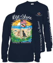 "Load image into Gallery viewer, Simply Southern Navy T-Shirt ""Rise & Shine Maryland""  LONG SLEEVE"