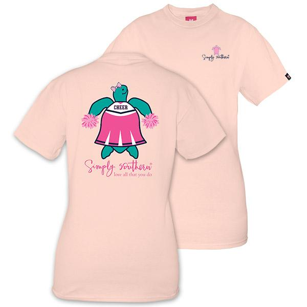 Simply Southern Save Turtle Cheerleader Short Sleeve T-Shirt