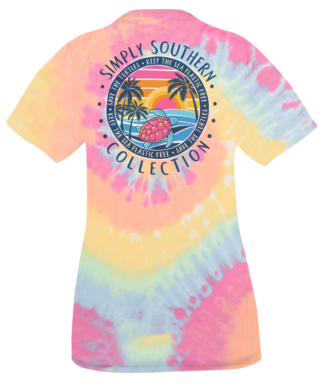 Plastic Tie Dye Simply Southern Short Sleeve T-Shirt