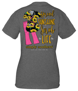 Simply Southern Scrub Sunflower Short Sleeve T-Shirt