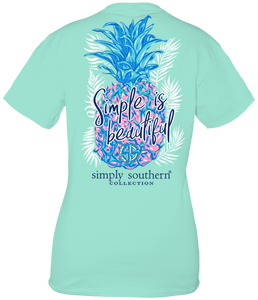 Simply Southern KIND SIMPLE IS BEAUTIFUL PINEAPPLE Short Sleeve T-Shirt