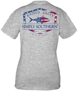 Simply Southern FLAG FISH Short Sleeve