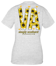 Load image into Gallery viewer, Simply Southern VIRGINIA VA SUNFLOWERS Short Sleeve