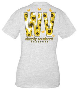 Simply Southern WEST VIRGINIA WV SUNFLOWERS Short Sleeve
