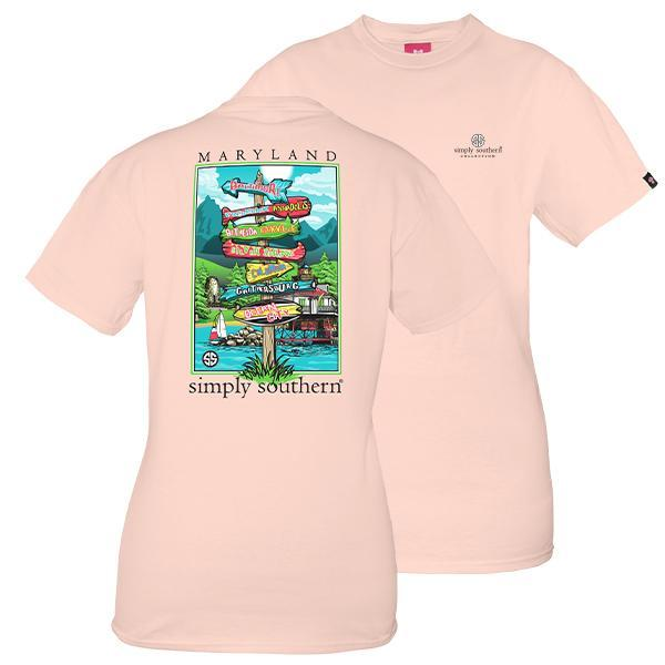 Maryland State Signs Simply Southern Short Sleeve T-Shirt