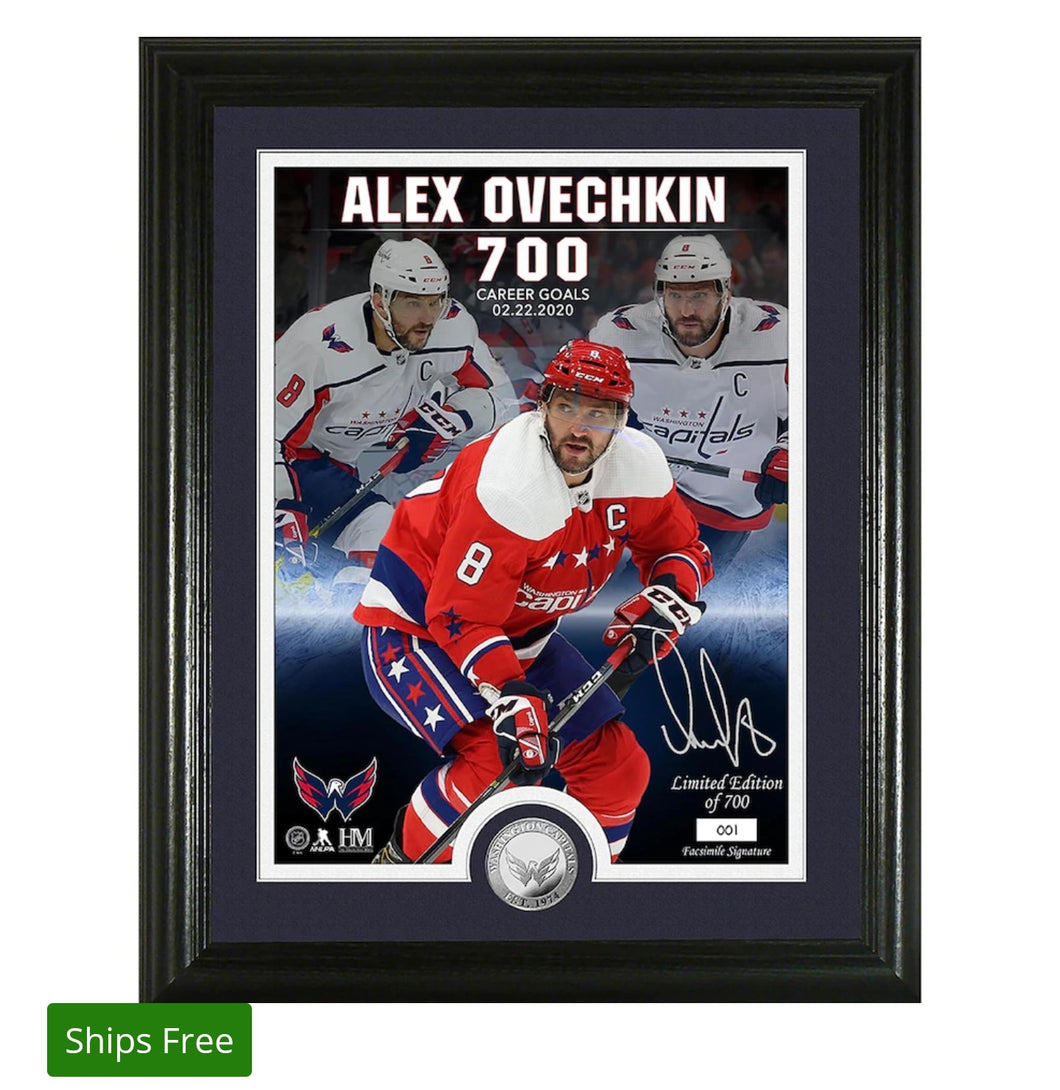 Alexander Ovechkin Washington Capitals Highland Mint 700 Goals 13'' x 16'' Photo Mint