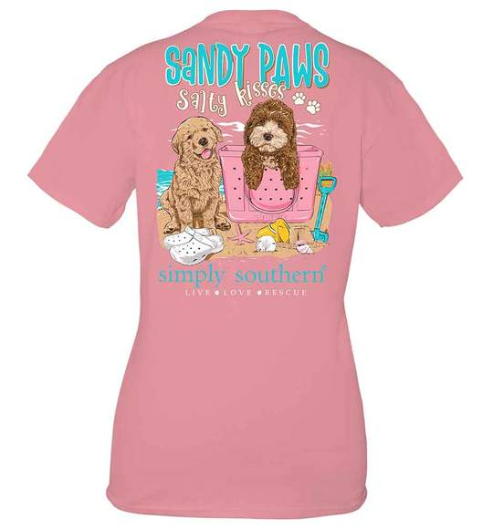 Simply Southern SANDY PAWS Short Sleeve