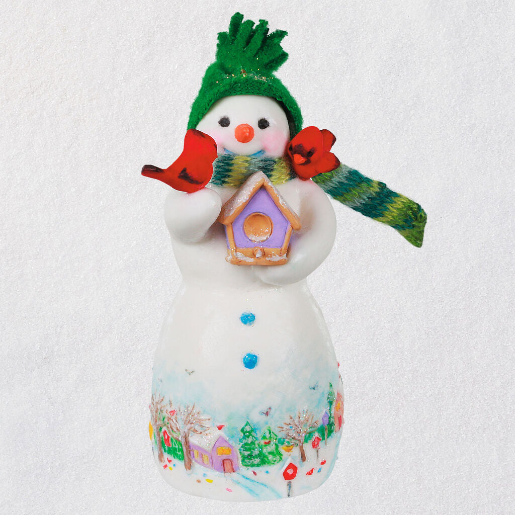 Snowtop Lodge Birdie P. Nestinghouse Porcelain Ornament