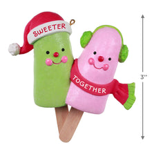Load image into Gallery viewer, Sweeter Together Popsicle Couple Ornament