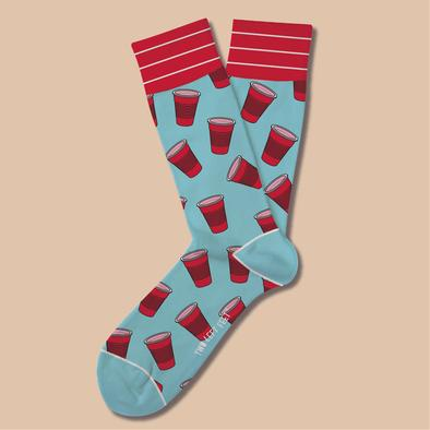 Party Hardy Red Cup Socks