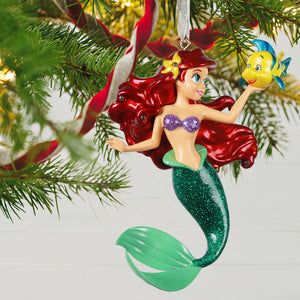 Disney The Little Mermaid Ariel and Flounder Metal Ornament