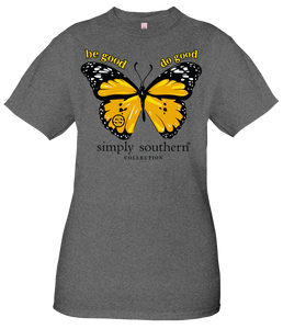 Simply Southern BUTTERFLY BE GOOD DO GOOD Short Sleeve Vintage