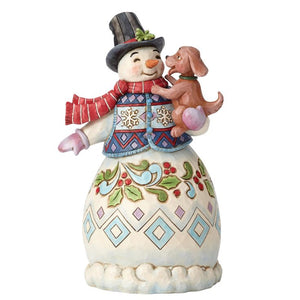 Jim Shore Warm Wishes and Puppy Dog Kisses Figurine