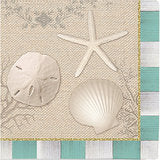 Beach House Shell Beverage Napkins Cape Shore