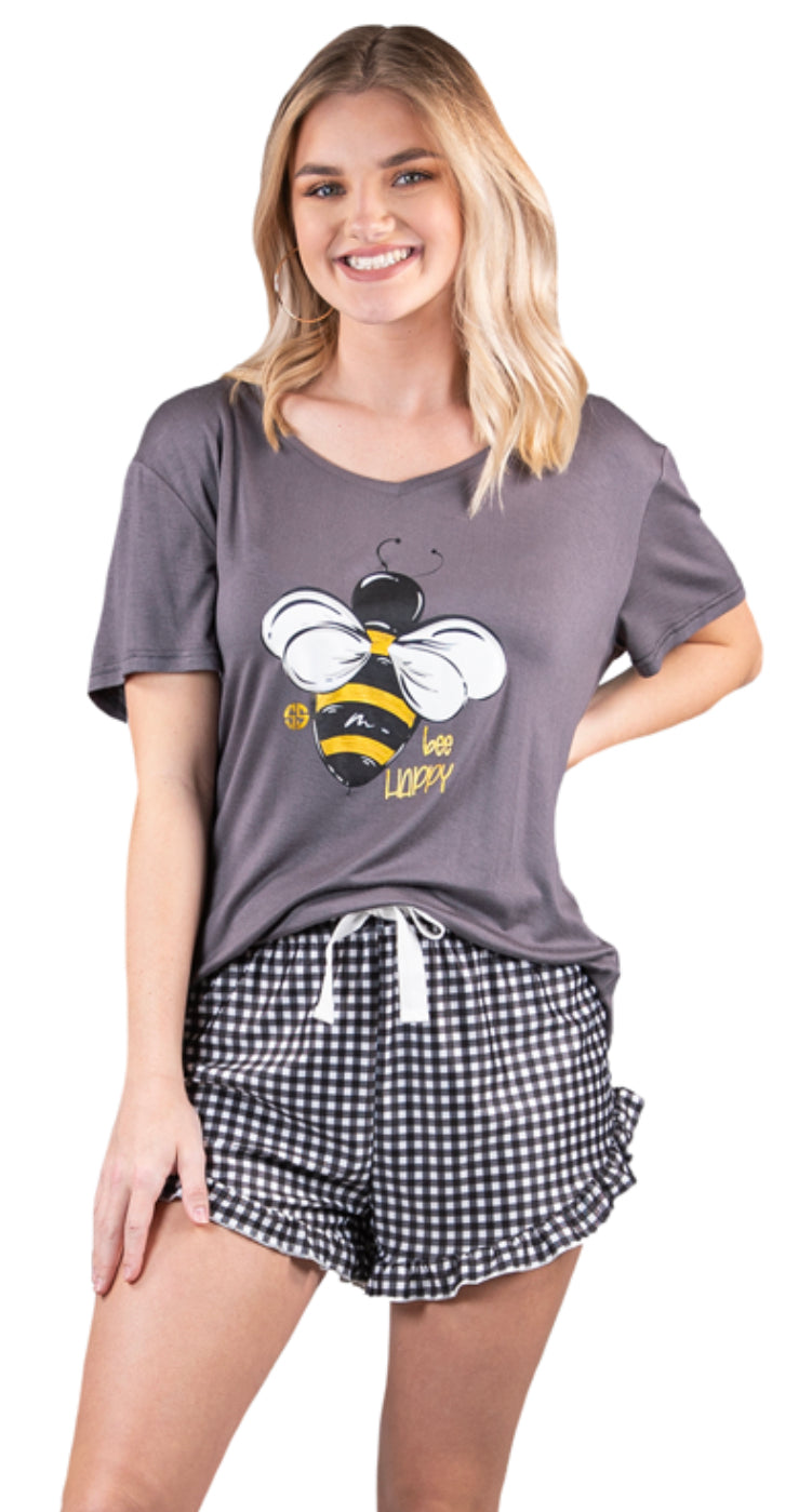 Bee Happy Pajama Set Simply Southern