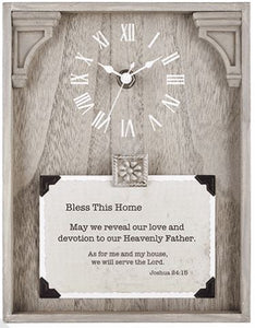 Bless This Home Tabletop Clock