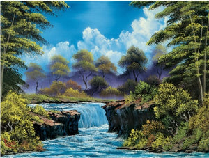 Bob Ross The Joy of Puzzles Summer 500 piece Wellspring Jigsaw Puzzle