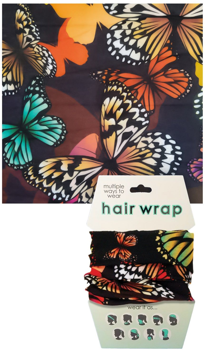 Butterflies Face Cover/Hair Wrap