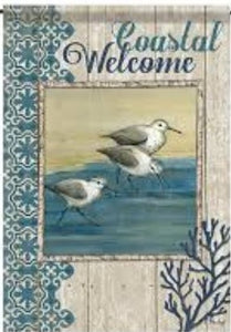 Coastal Welcome Birds Garden Flag