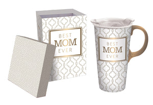 BEST MOM EVER 17oz. Ceramic Travel Mug