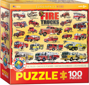 Fire Trucks 100 piece Jigsaw Puzzle