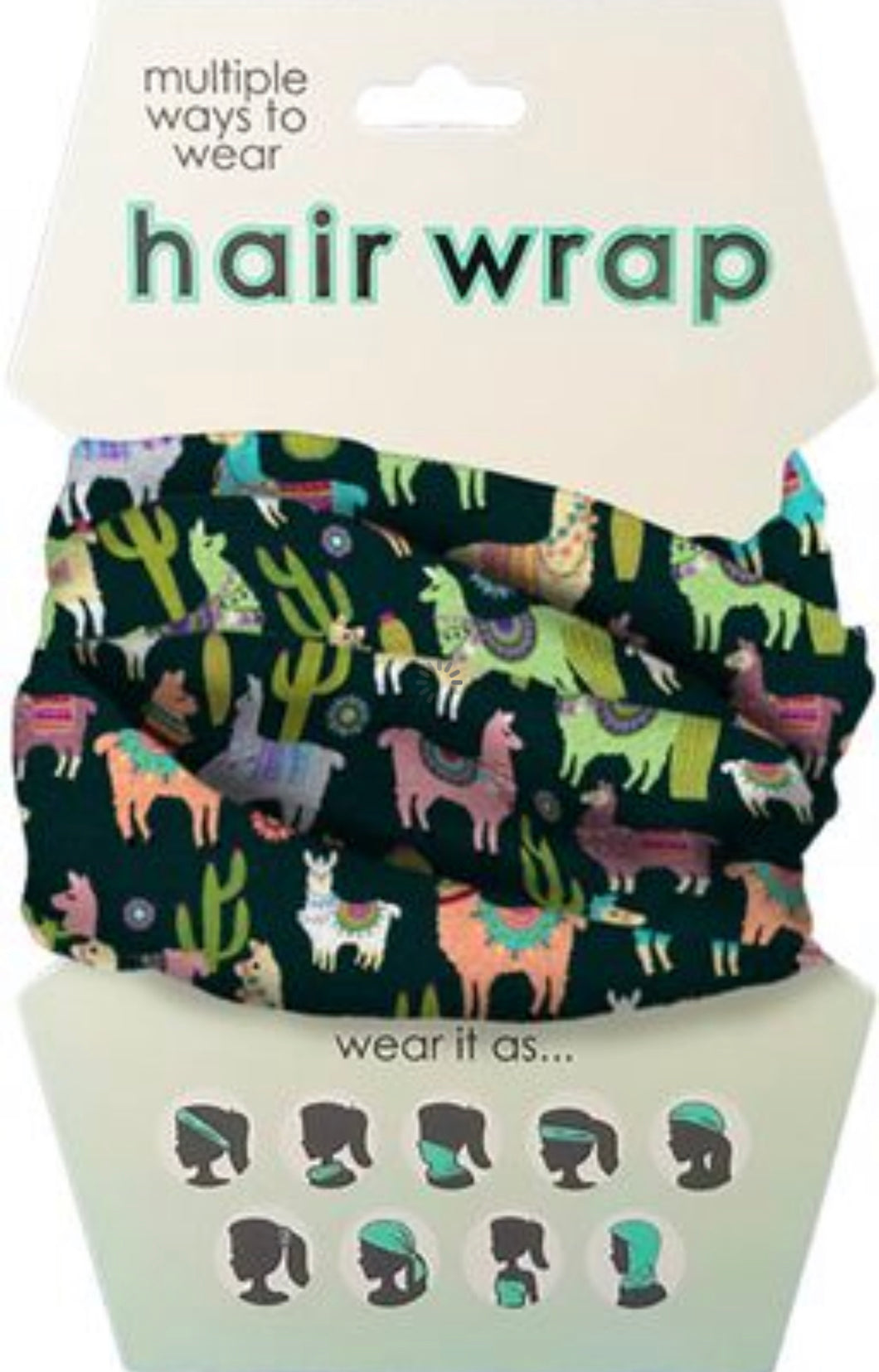 Llama Face Cover/Hair Wrap