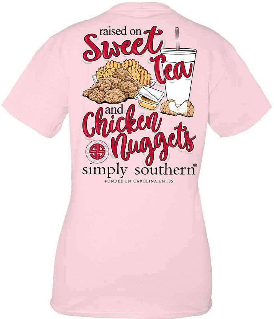 Simply Southern RAISED ON SWEET TEA and NUGGETS Short Sleeve
