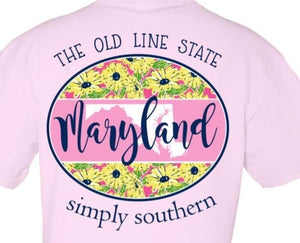 Maryland Simply Southern Short Sleeve T-Shirt Pam's Exclusive