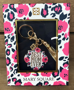 Key Chain Best Mom Ever Wild Posy Mary Square