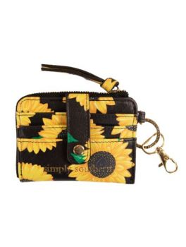Sunflower Patterned Key ID Simply Southern