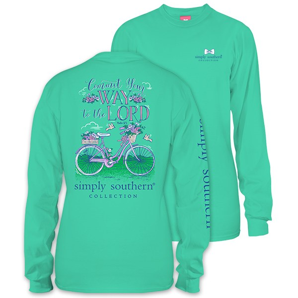 Simply Southern Commit Your Way to the Lord Long Sleeve T-Shirt