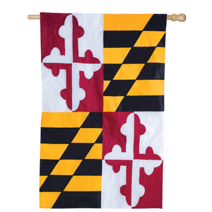 Maryland State Applique House Flag