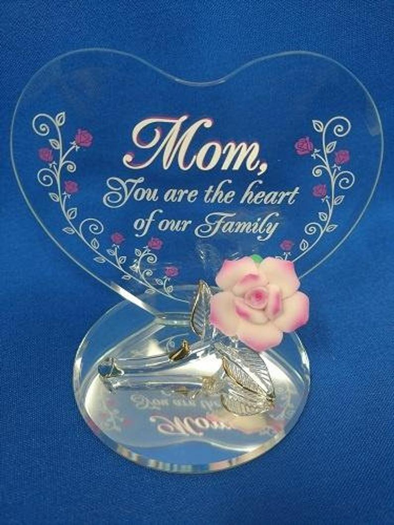 Mom Heart of our Family Glass Baron
