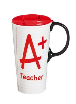 A+ TEACHER 17oz. Ceramic Travel Mug