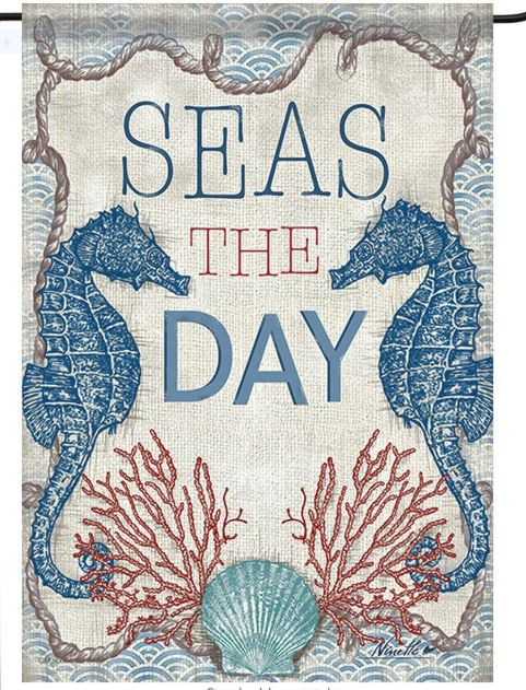 Seas the Day Garden Flag