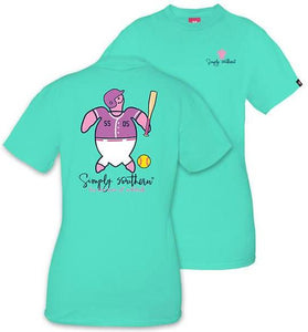 SAVE TURTLE SOFTBALL SIMPLY SOUTHERN SHORT SLEEVE T-SHIRT