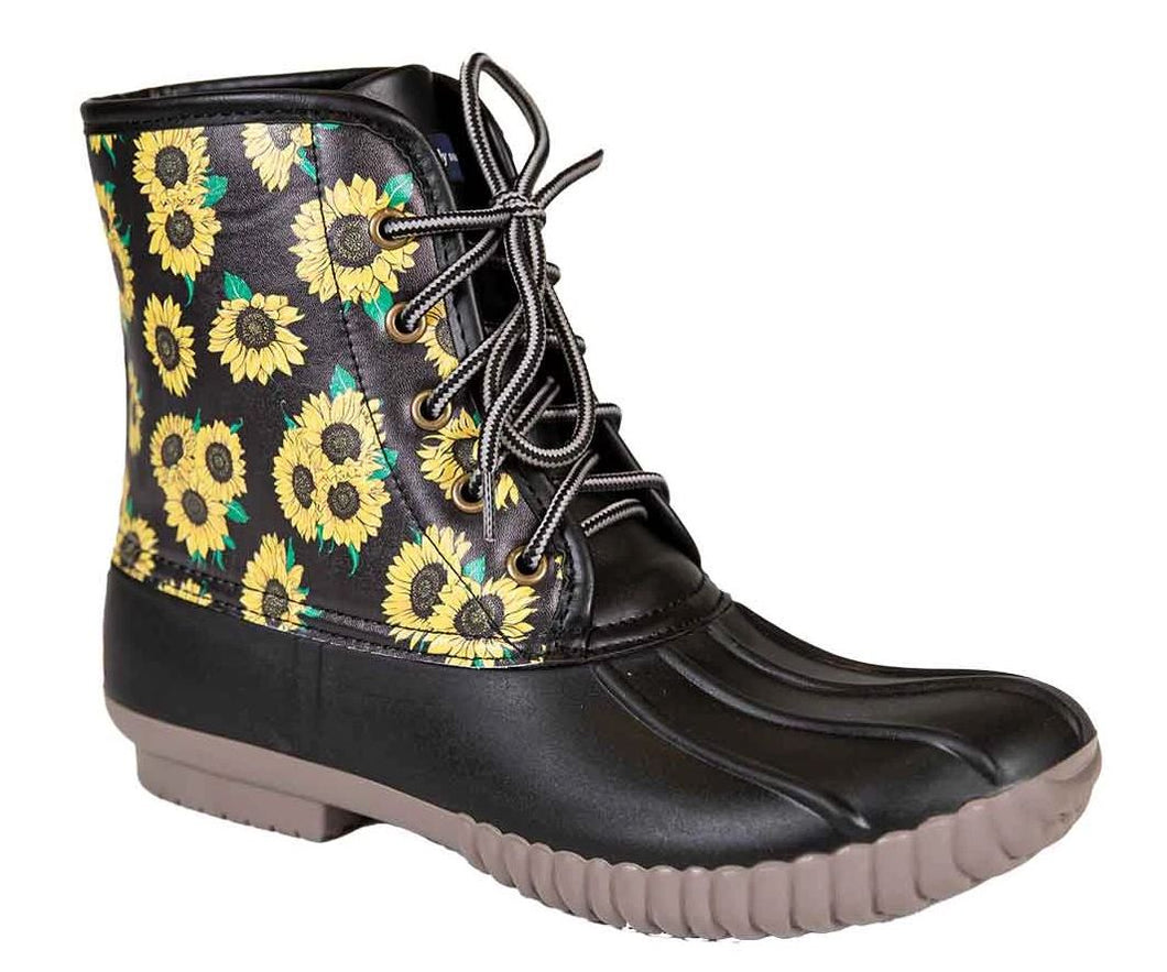 WOMEN'S SUNFLOWER DUCK BOOTS