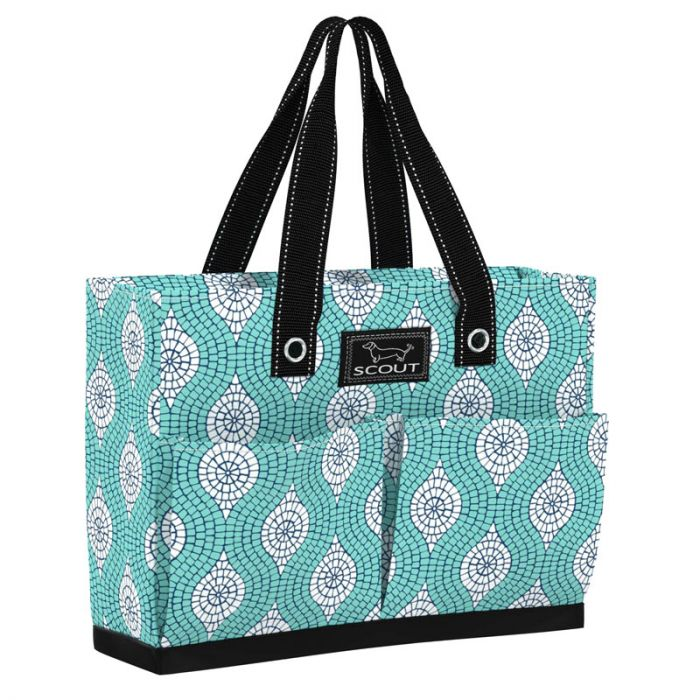 Uptown Girl Pocket Tote Bag Mosaic Aint So