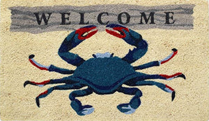 WELCOME CRAB COIR DOORMAT 18X30